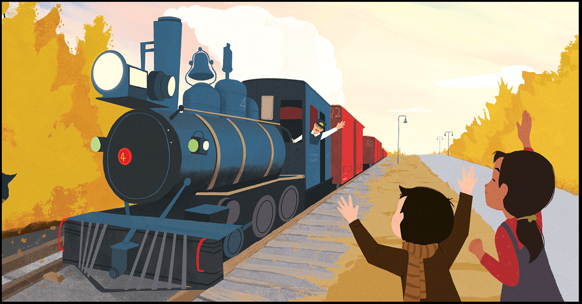 Image may contain: train and cartoon