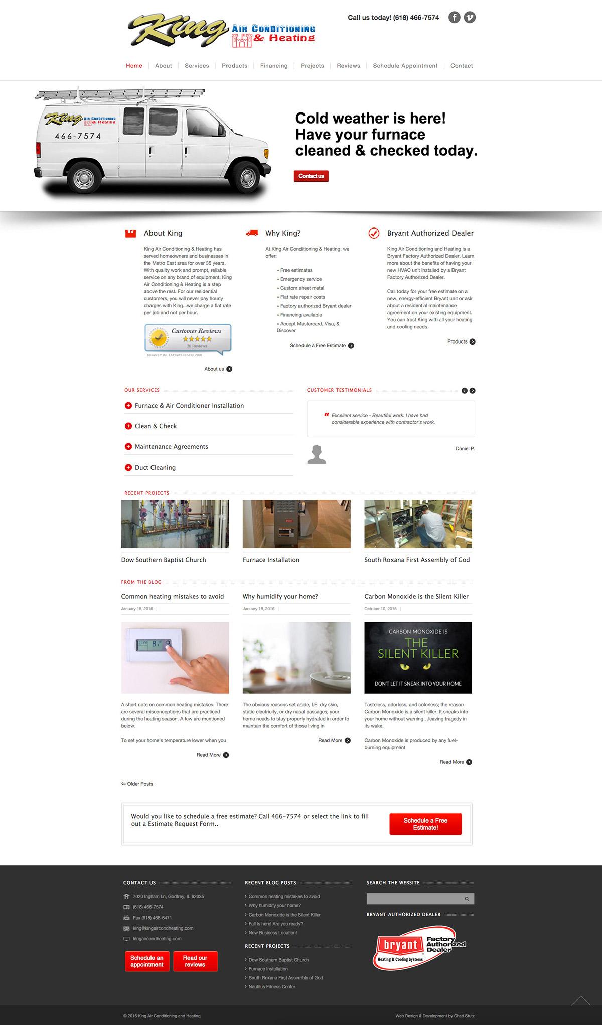 HVAC air conditioning heating Service Website