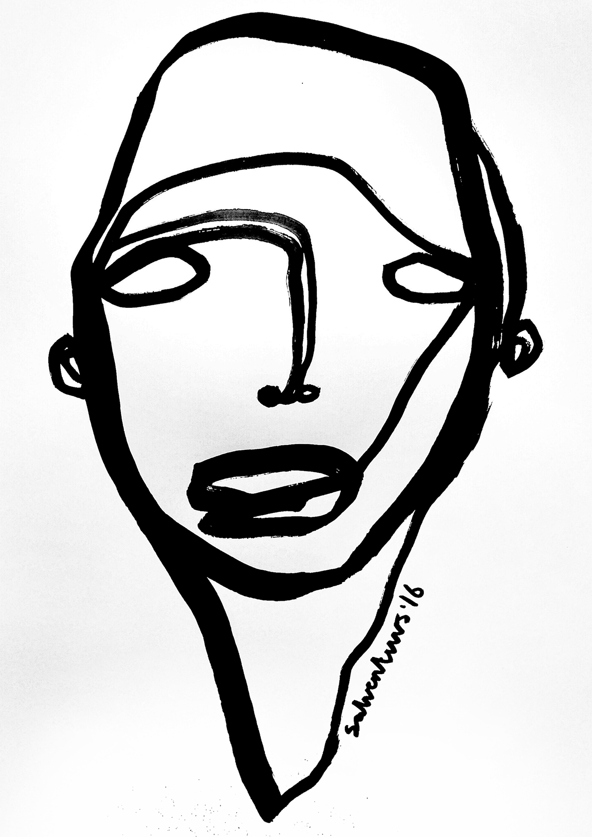 Line Drawing Photo : Continuous line drawings solo art daysproject on