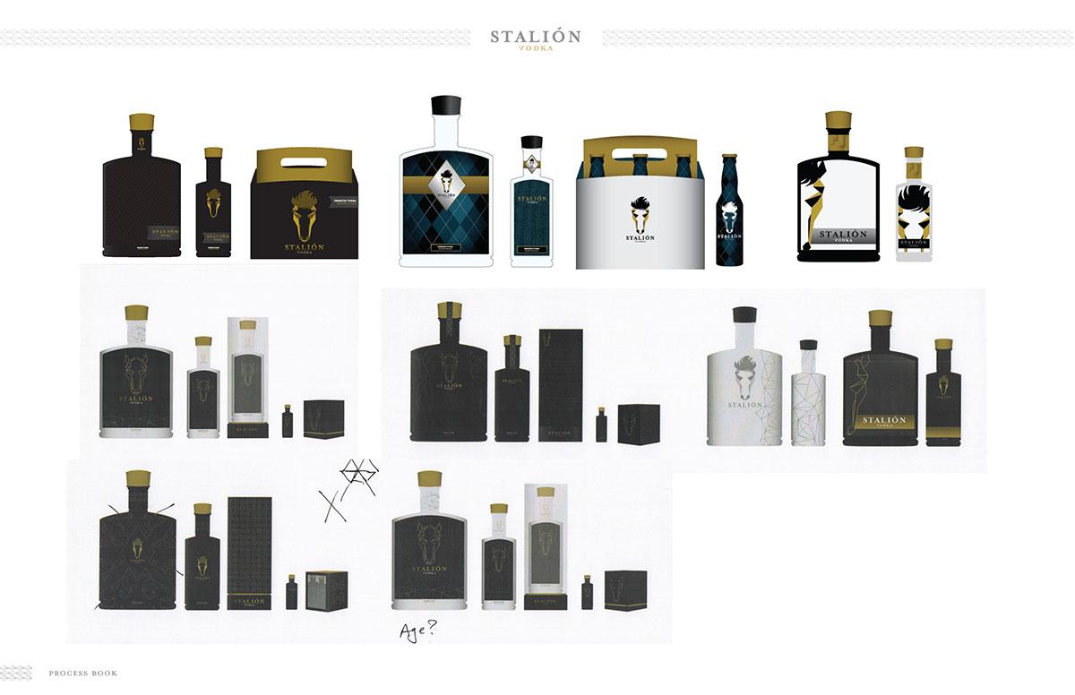 design Vodka horses liquor stallion stalion package brand vodka bottle bottle logo student Consumer consumer profile