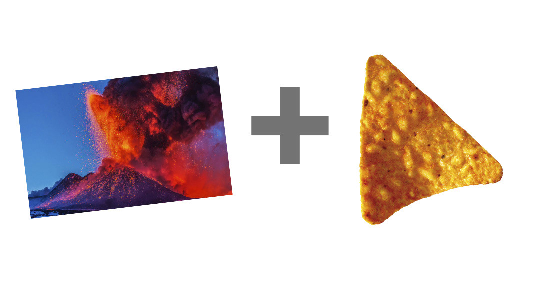 A Dorito is Born doritos explotion flavor lava Vulcano