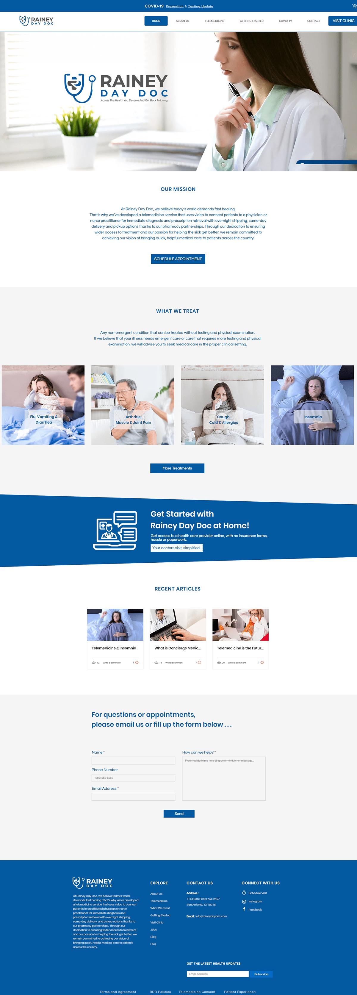 Doctors/Medical/Telemedicine Services Website