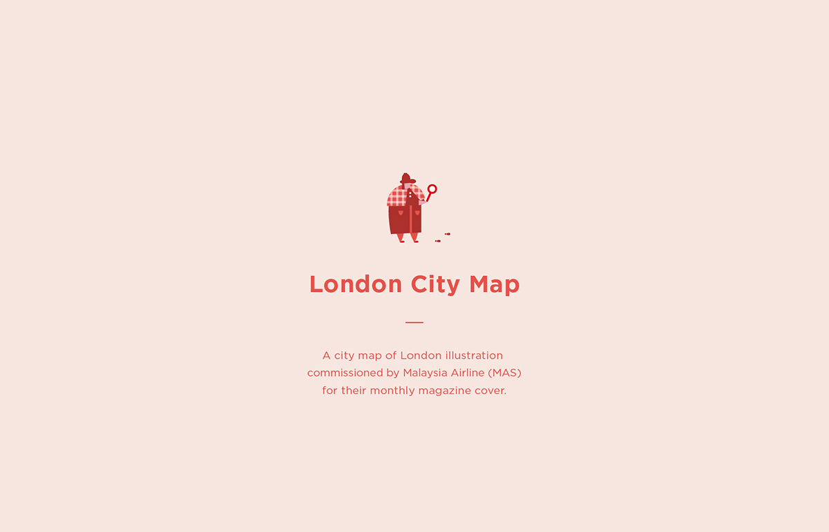 London Map // Malaysia Airline on Student Show on
