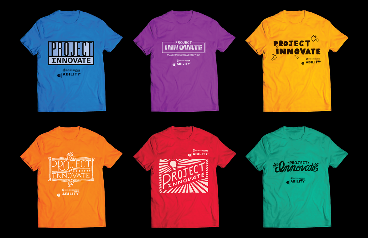Shirt design concepts -  T Shirt Designs For A Team Building Event The Concepts Included Fresh And Fun Visuals That Could Be Applied To Multiple Color Schemes