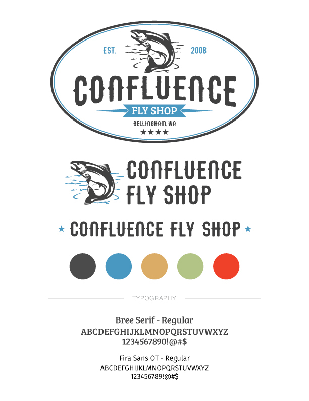 Confluence Fly Shop Branding on Behance