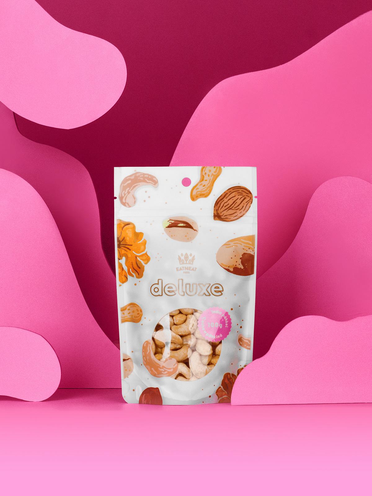 package design  product design  label design Tallinn eesti HMMM Deluxe eatneat nuts
