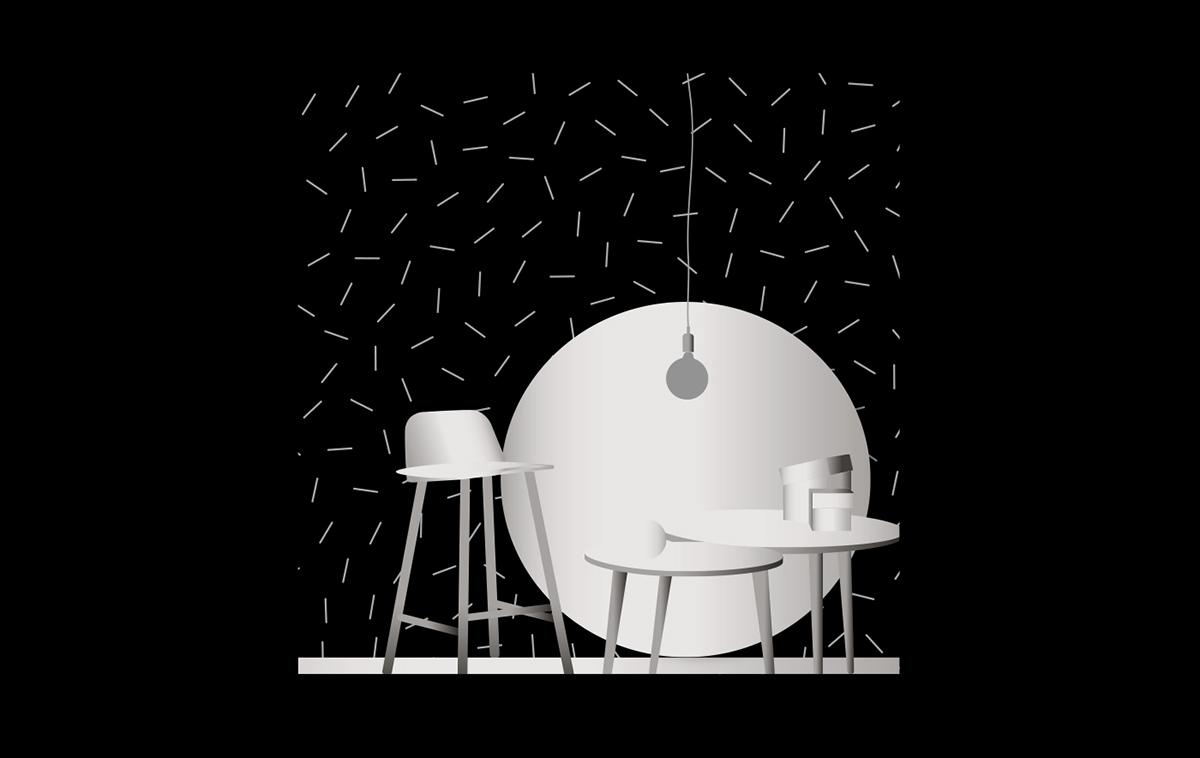 chrome silver metalic screenprint silkprint vasarely op art 60's 70's black and white pattern