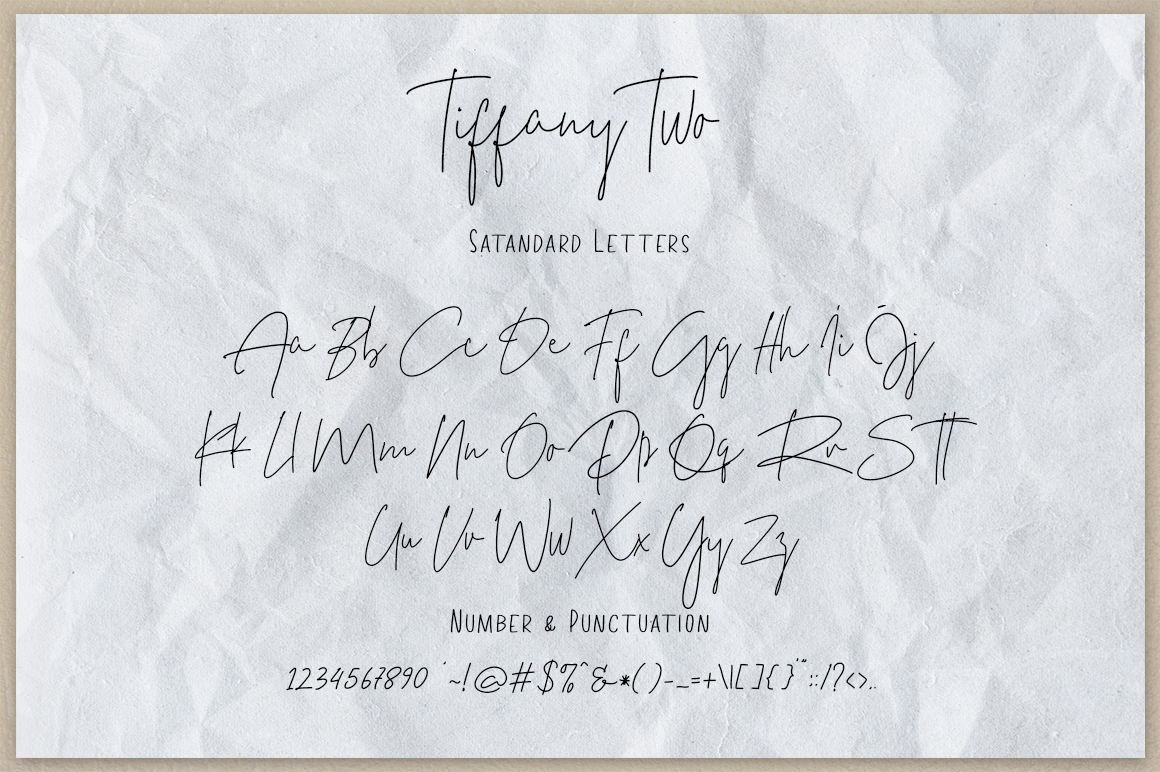 Шрифт – Tiffany