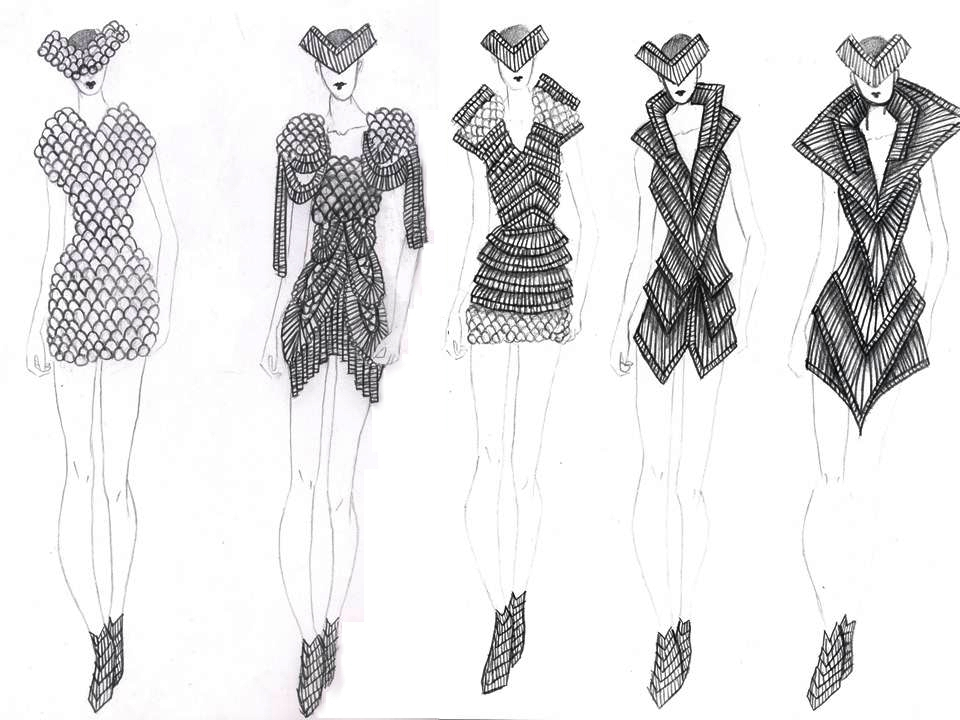 Conceptual To Actual The Fashion Design Process On Behance