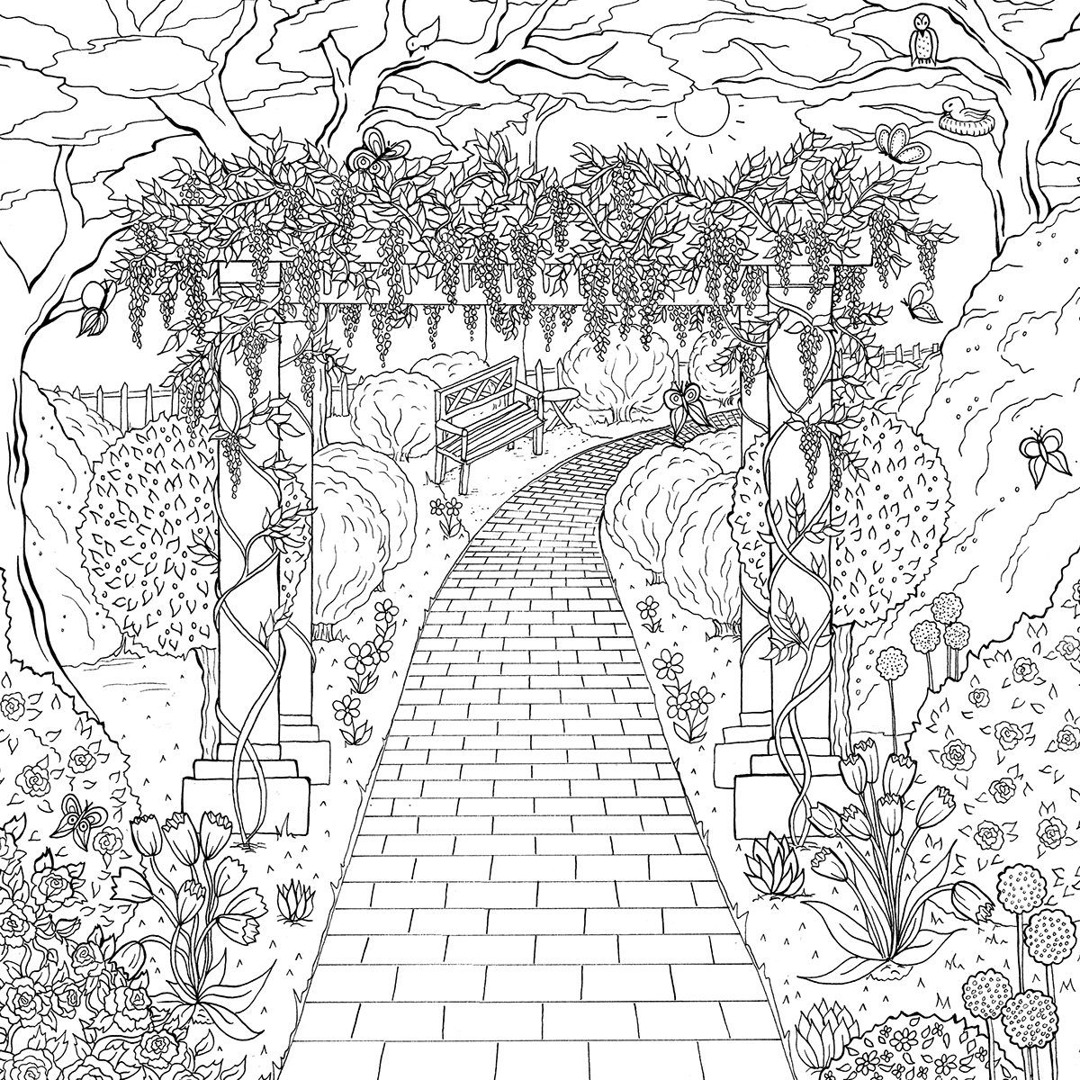 garden winter coloring pages | The World of Debbie Macomber on Behance