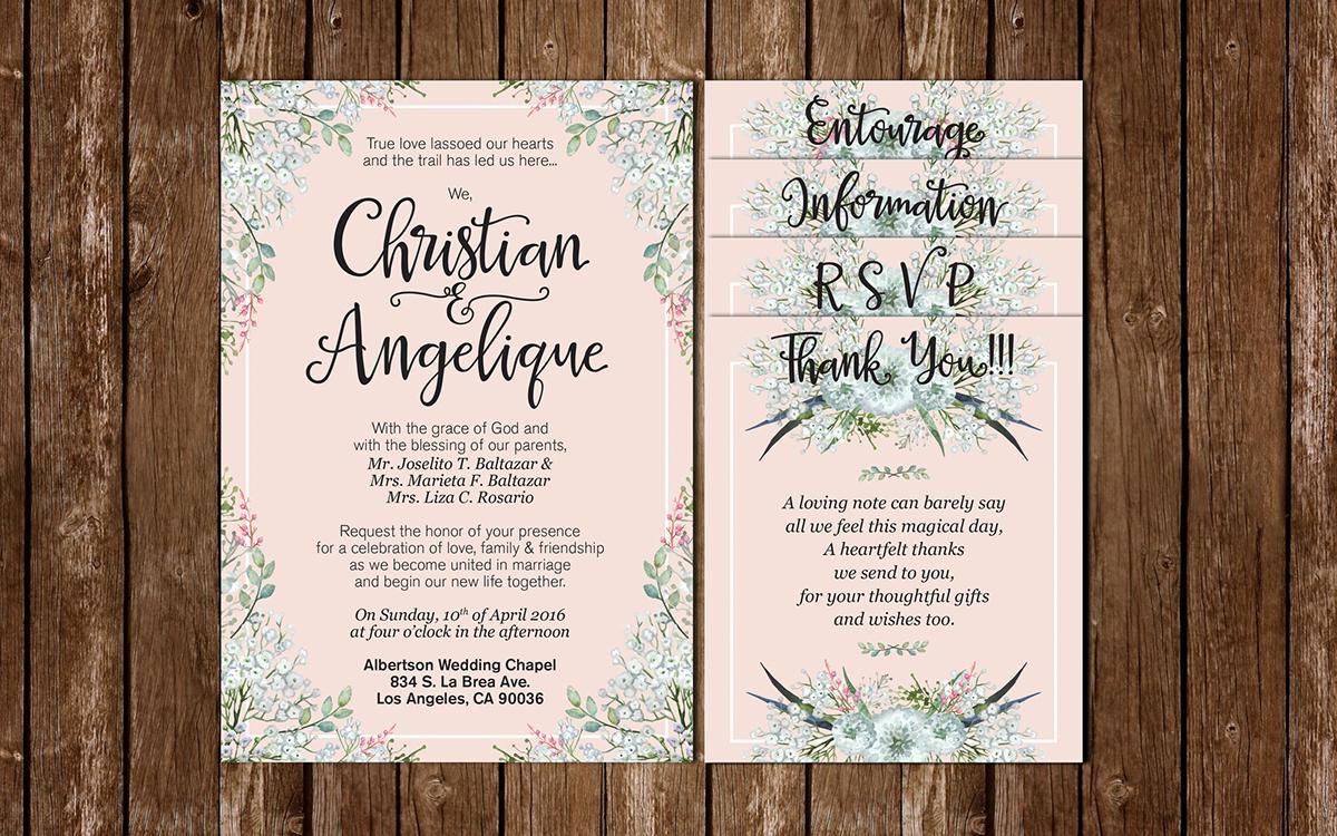 Baby Breathe Themed Wedding Invitations