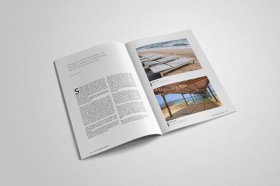 InDesign magazine template Multipurpose clean minimal a4 letter simple magazine