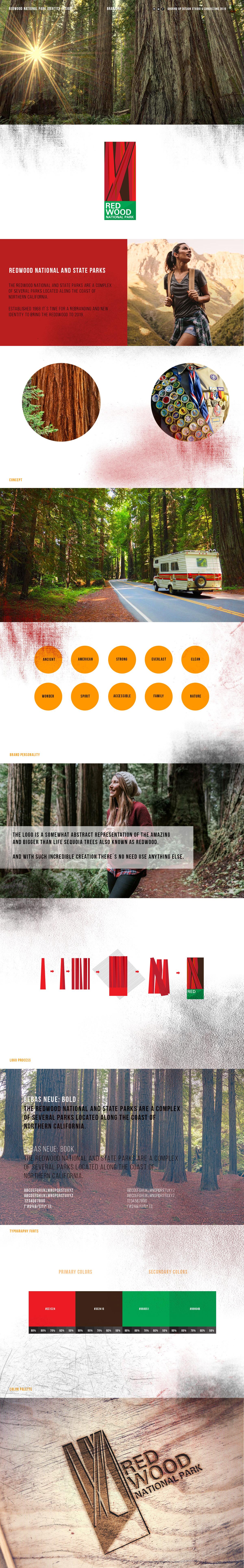 California redwood Park logo branding  identity national usa
