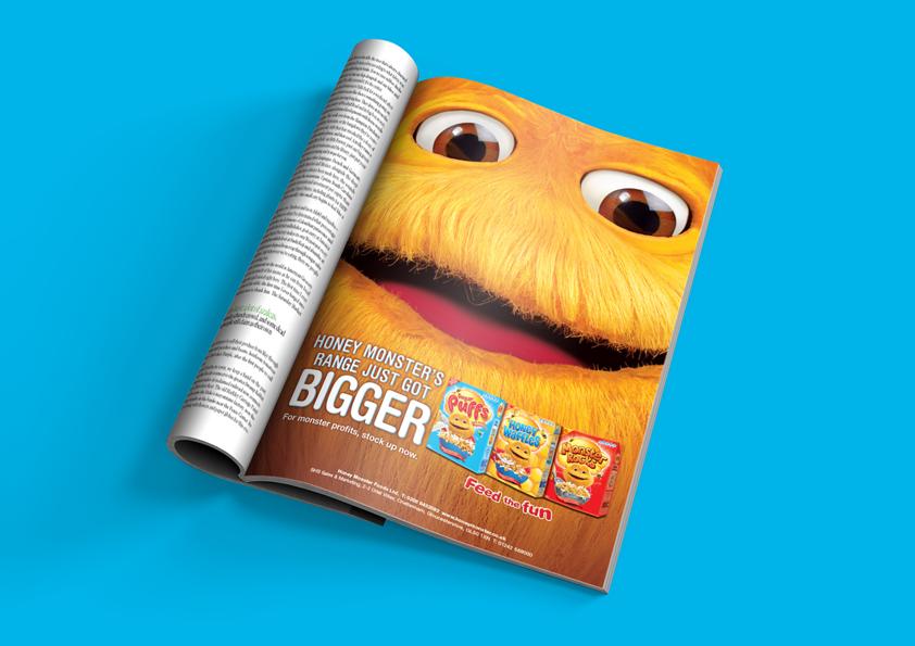 Honey Monster Sugar Puffs – Advertising Archer Studio