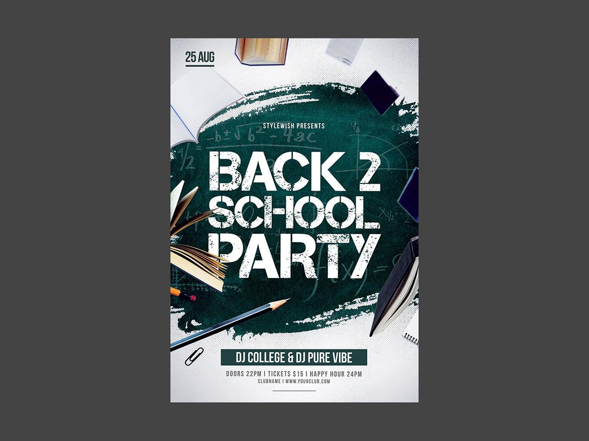 back 2 school flyer on behance