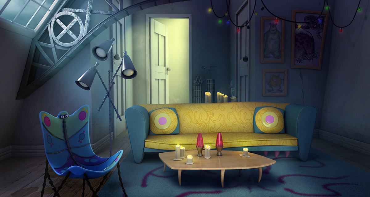 Sulley And Mike´s Apartment On Behance