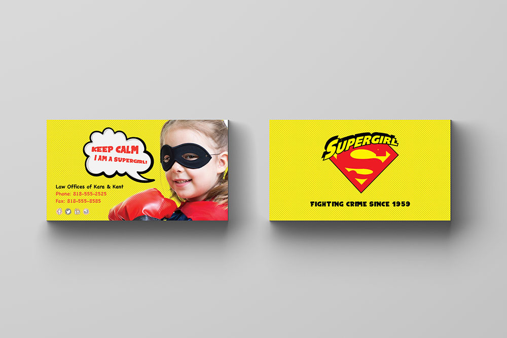 5 Free Superhero themed business cards for kids! on Behance