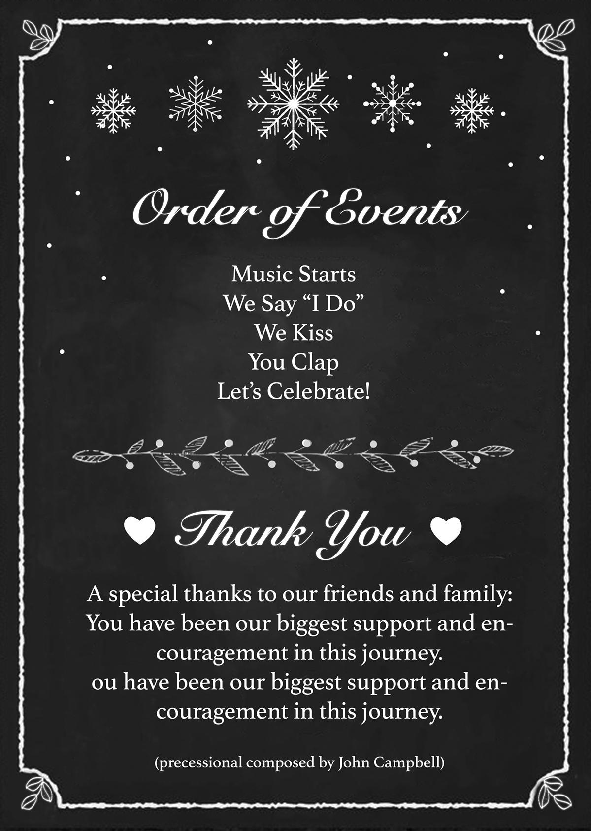 wedding program and invitation on behance