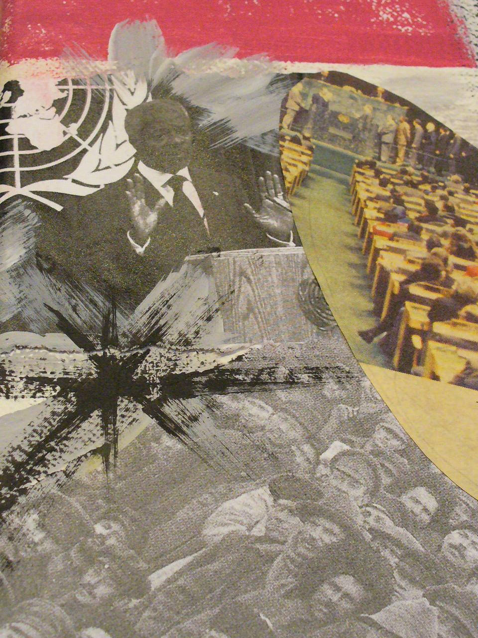 TELLusVISION peace collages KARIANNE B ARTISTE CONTEMPORAIN CONTEMPORARY ARTIST marginal outsiderart paix amazing nobel peace price NOBELS FREDSPRIS