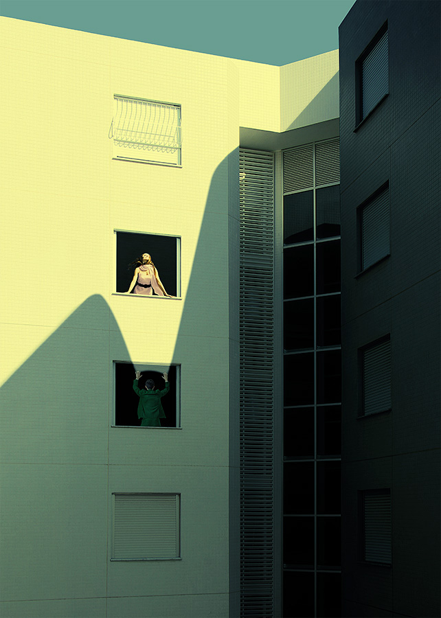 surreal retouching  concept photomanipulation light shadow Love