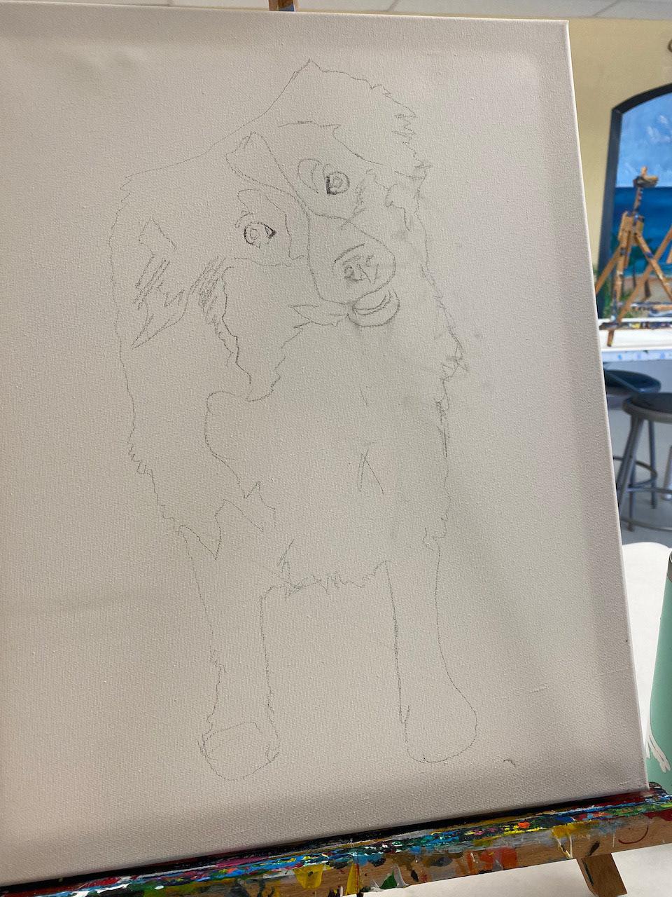 Bricole Reincke's Sketch of Red-Tri Mini Aussie