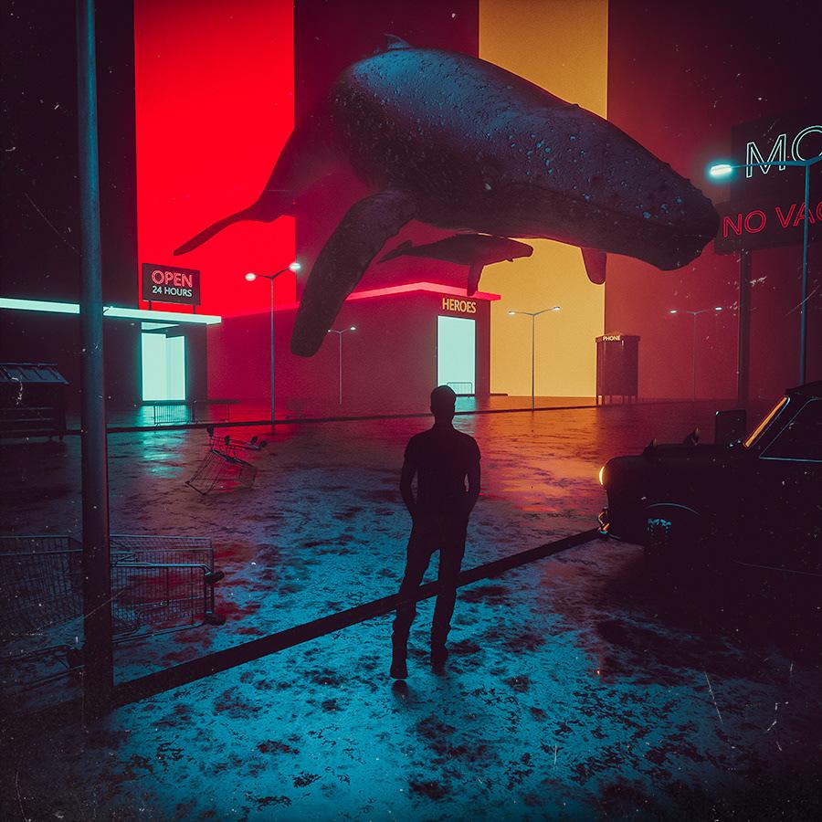 Ps25Under25 3D cinema4d MakeIT music poster dark sic fi cc2017 Whale