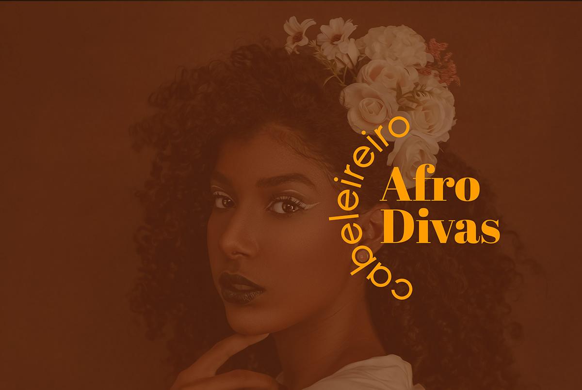 africanpattern afro divas brand Brand Design branding  cabeleireiro pattern Patterns visual identity WarmColors