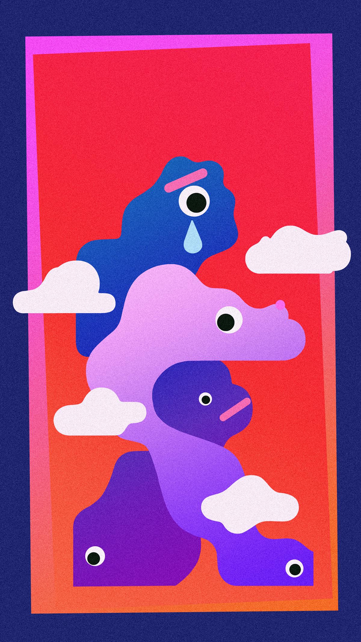 gradient minimal colour simple visual cloud frame inspiration