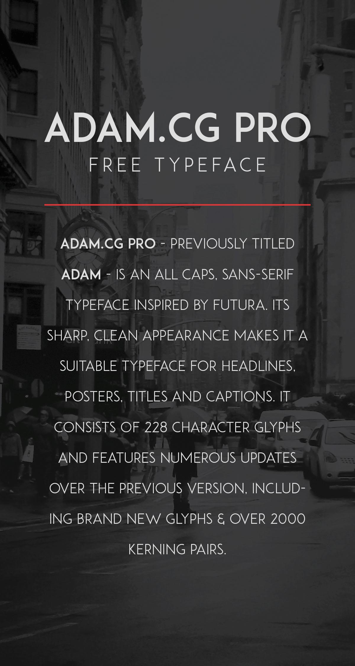 ADAM.CG PRO Font Download