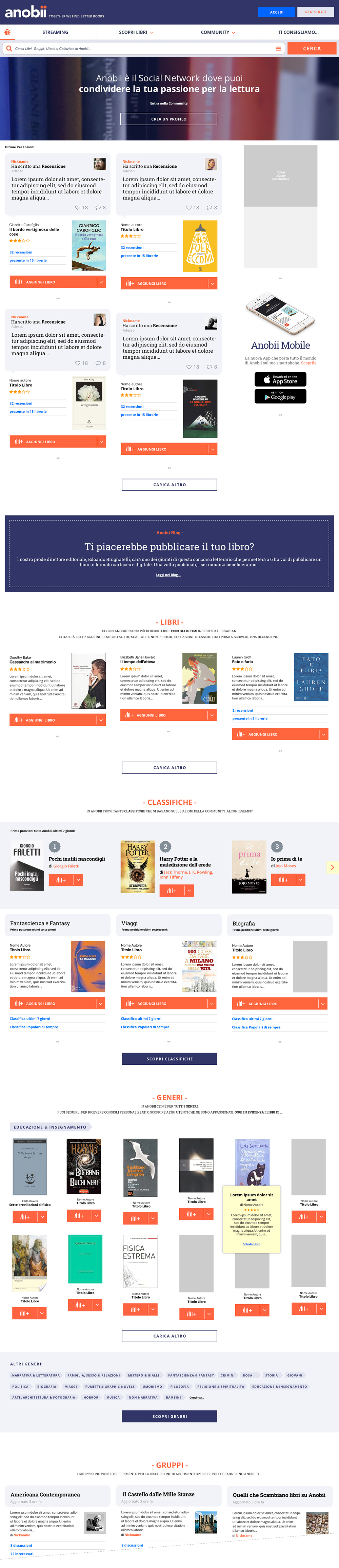 anobii social network redesign books library UGC