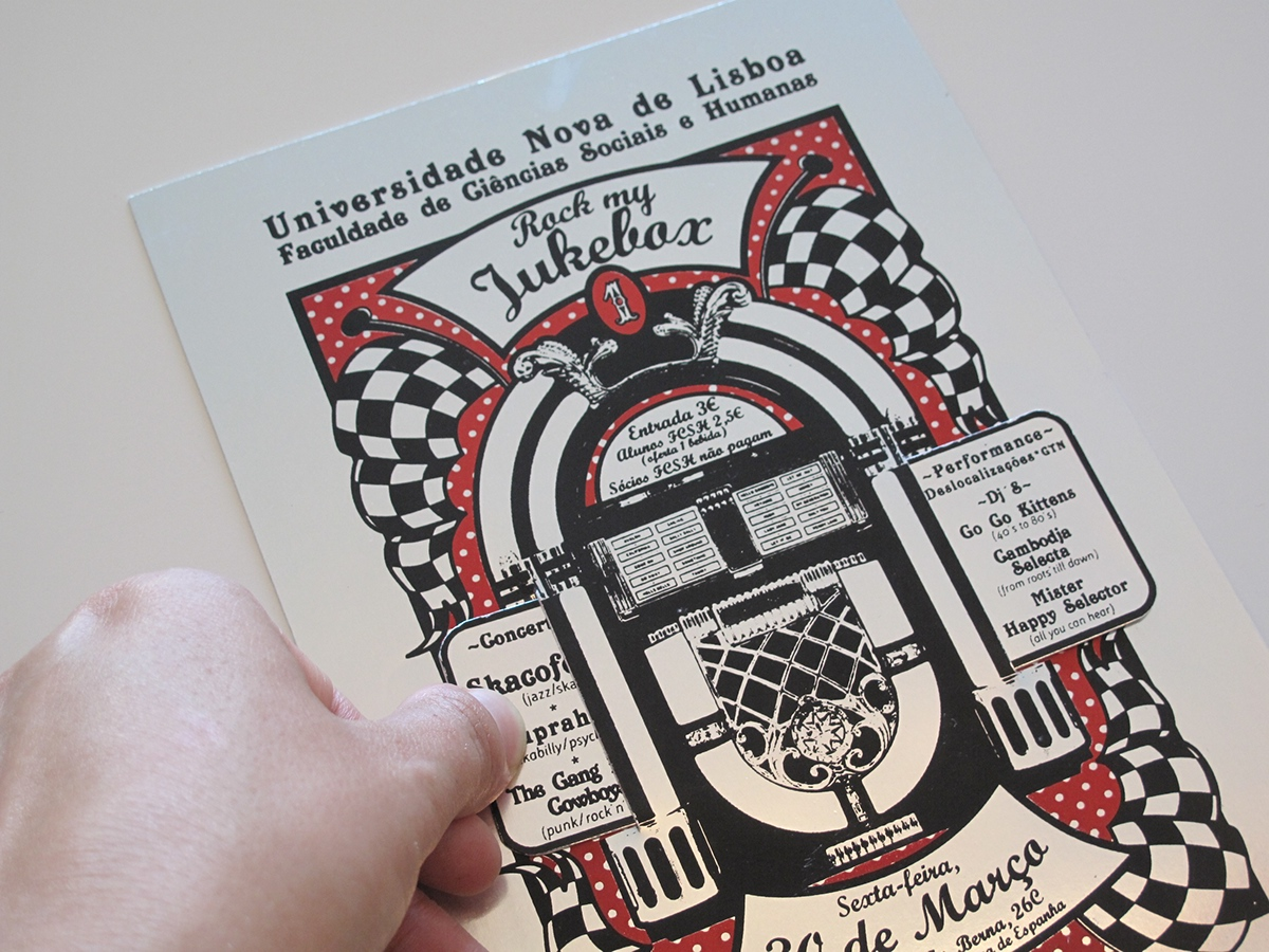 Poster / Flyer / Fabric bag / Rock my Jukebox on Behance