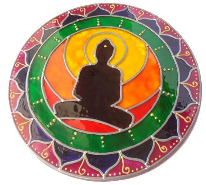 falso vitral  Spas artesanato Mandalas Decoração