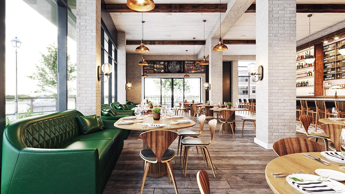 animation  exterior Interior Office spaces restaurant