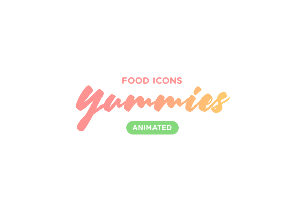 Icon illustrations gif animated motion Food  ux colorful