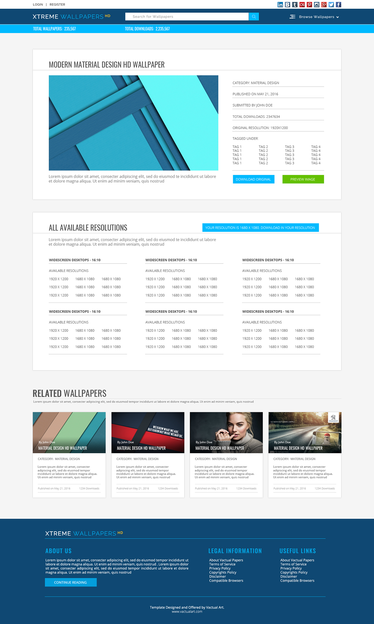 free download psd photoshop Website Web Template Wallpapers Website