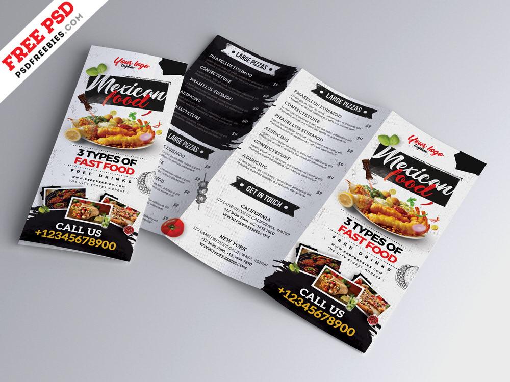 restaurant cafe menu tri fold brochure psd on behance
