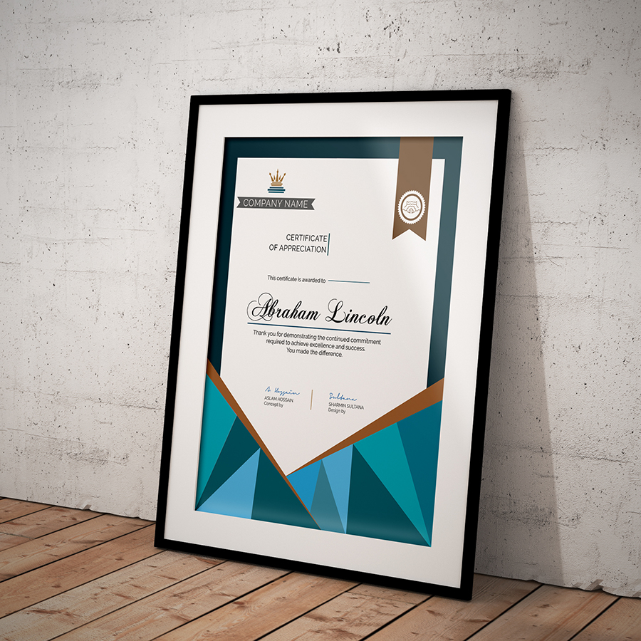 Free simple certificate on behance multipurpose certificate of appreciation introduction yadclub Image collections