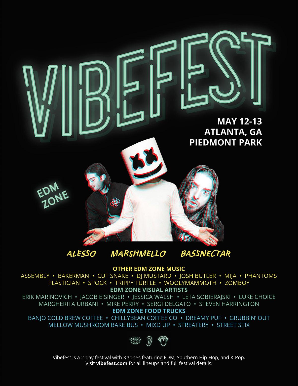 VibeFest – System, Brand, Promotion on Behance