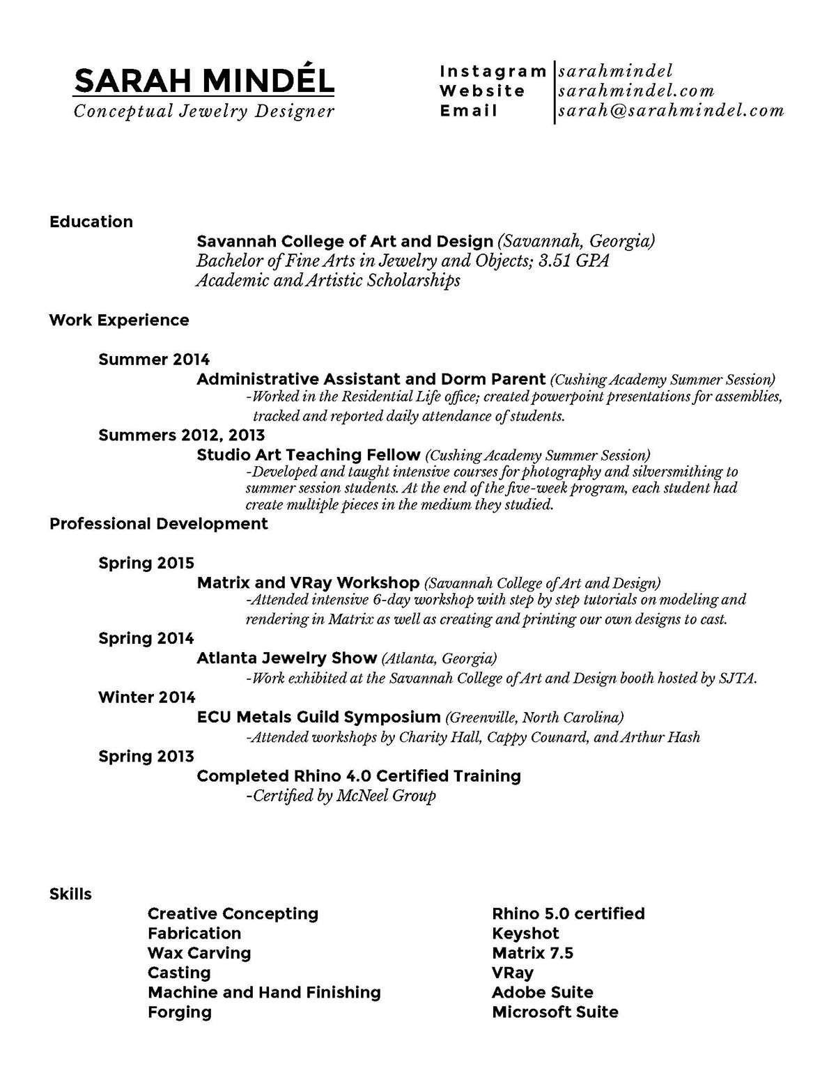 jewelry designer resume - Monza berglauf-verband com