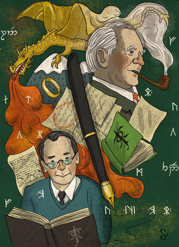 J.R.R. Tolkien literature book Grimm tales Tolkien LOTR smaug Sherlock jane austen adam and eve