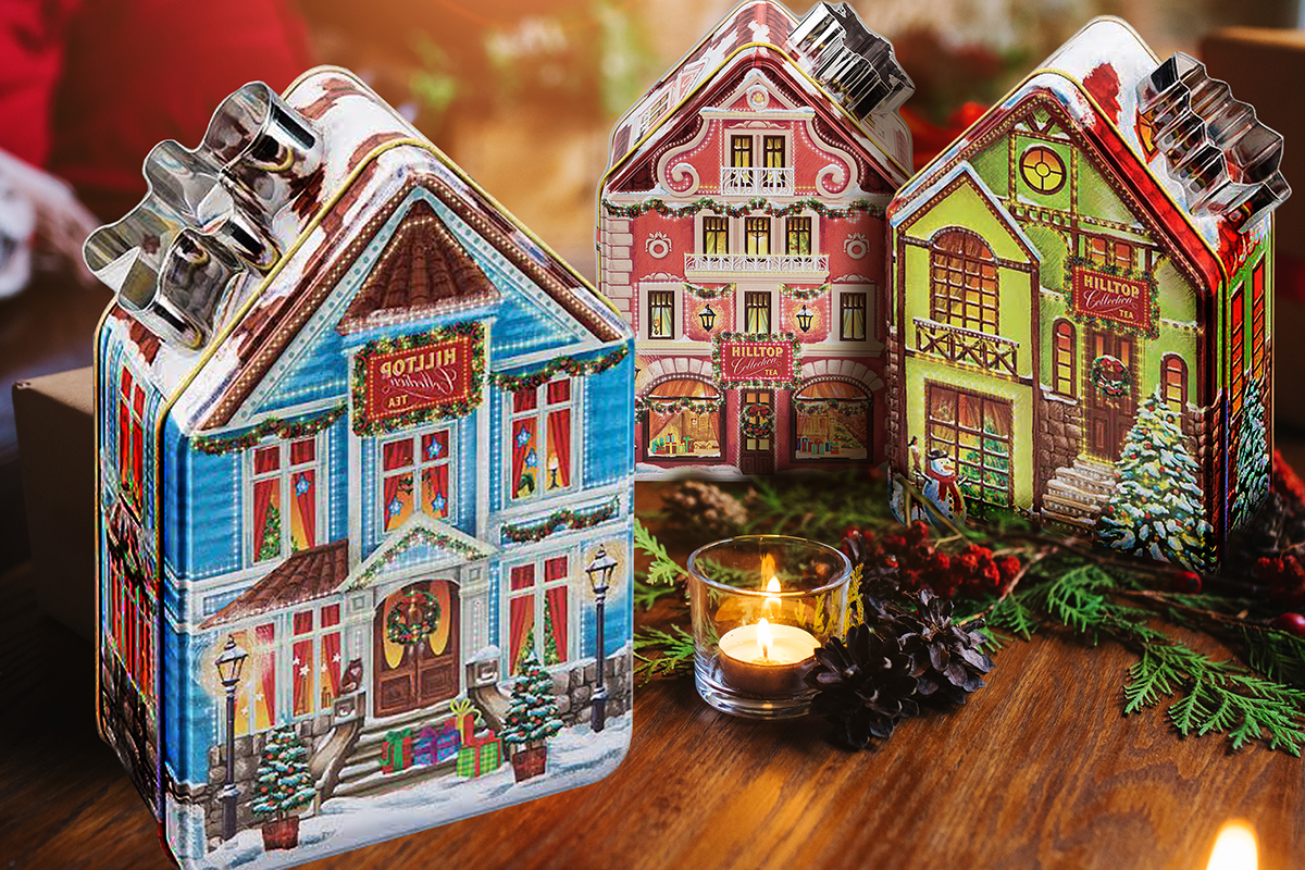 christmas houses design for tin boxes tm hilltop on behance - Hilltop Christmas