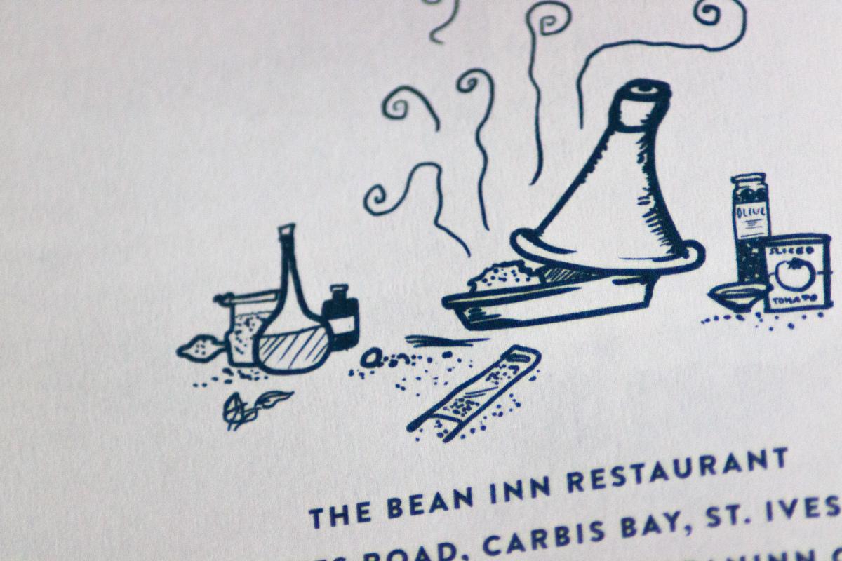 Travel companion cornwall hand-drawn traveling recipies Surf england Coast Seaside