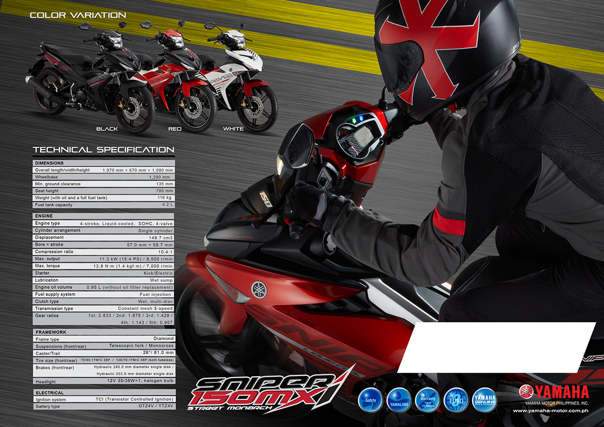 YAMAHA Sniper 150 MXi Catalogue on Behance