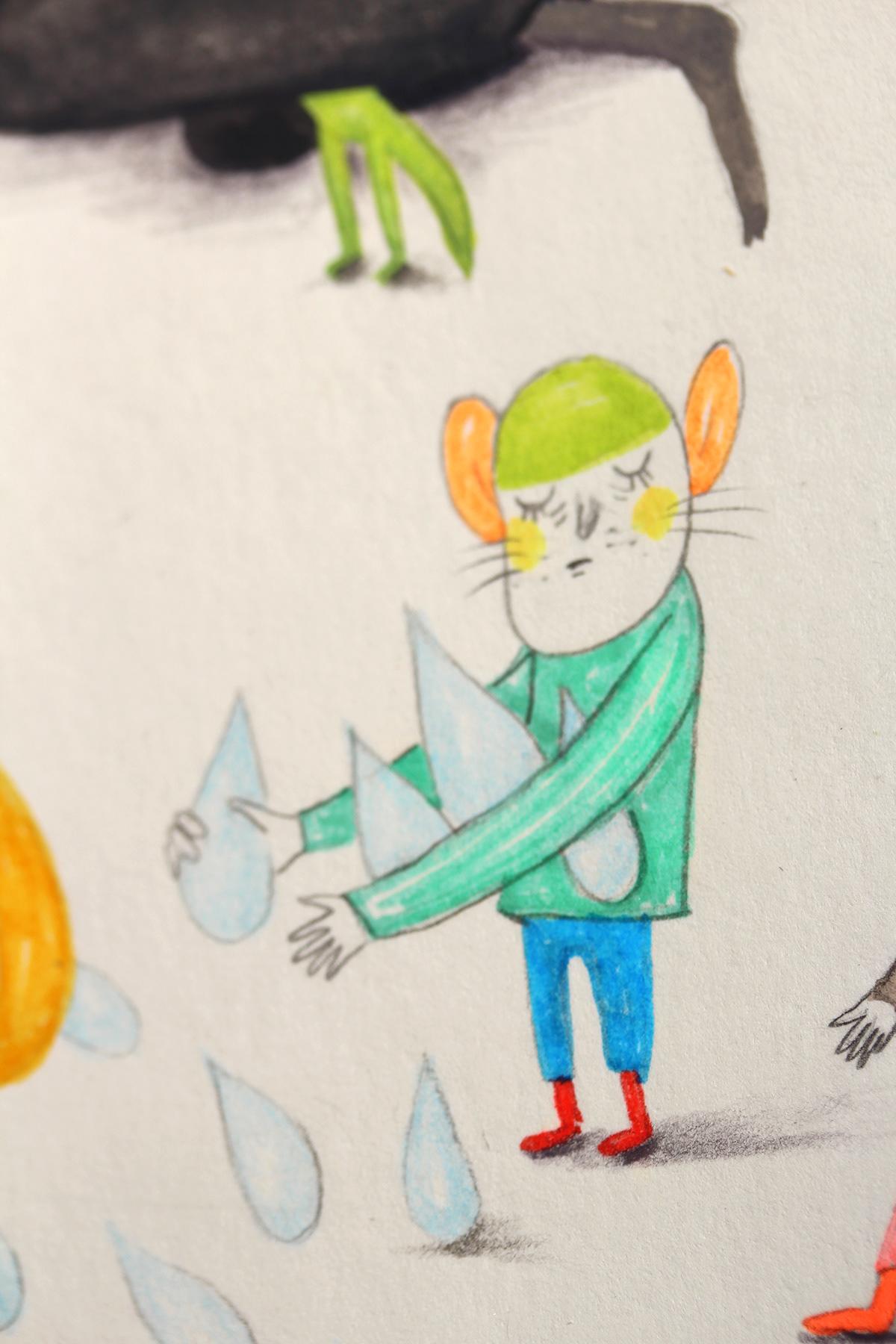 ILLUSTRATION  Veronica Neacsu book illustartion pencils gouache heart fantasy charachter design dream