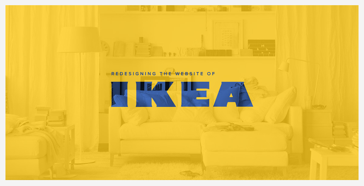 Redesigning the website of ikea on student show for Concept ikea
