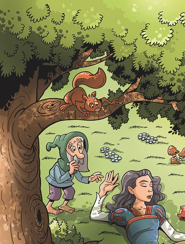 snow white kid children fairy tale ILLUSTRATION  dwarf book ilustrace pohadka kniha