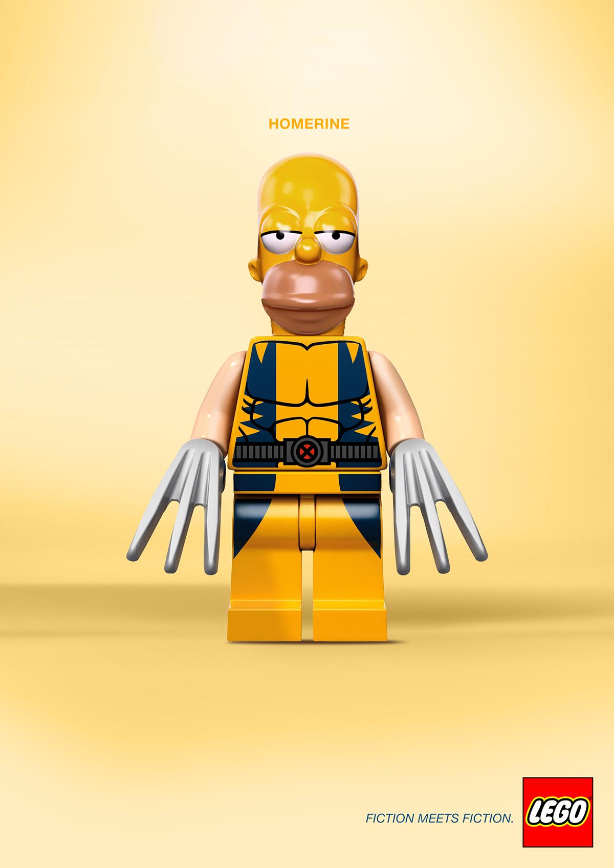 LEGO darth vader batman spiderman james bond Homer Simpson wolverine toy star wars x-men
