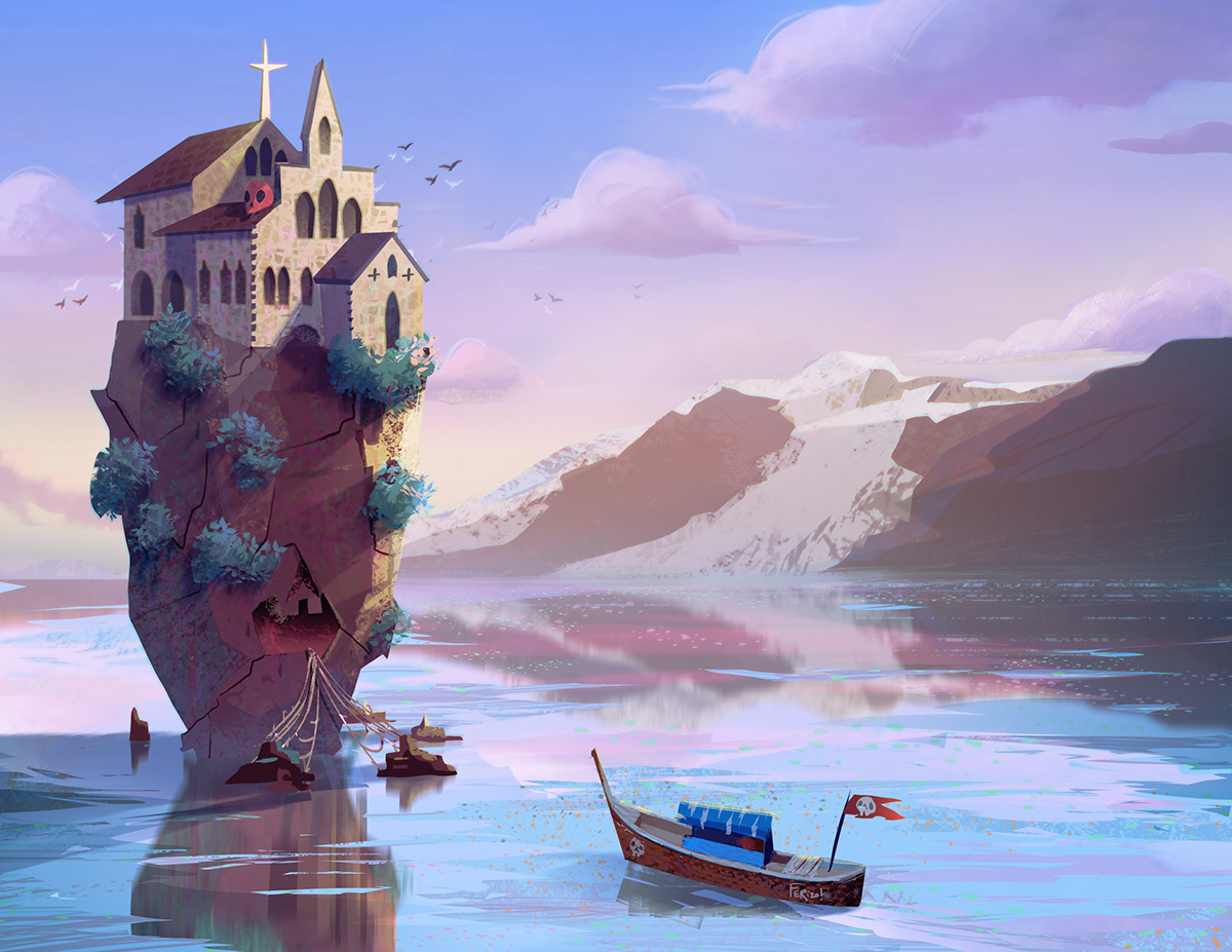 environments,beach,painting  ,ILLUSTRATION ,environments design,house,interior design ,escenario,japanese,Color Test