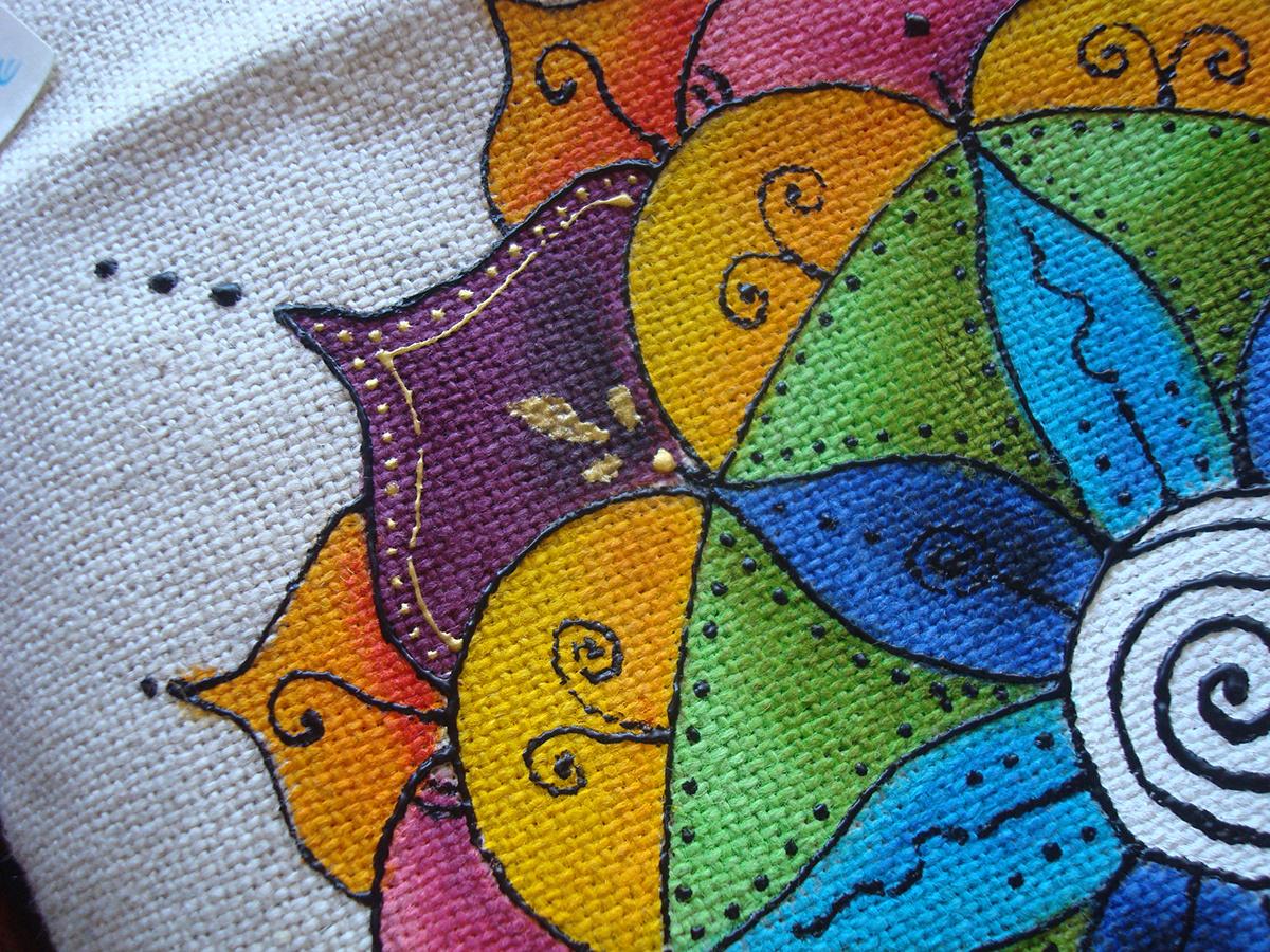 pintura em tecido Mandalas artesanato