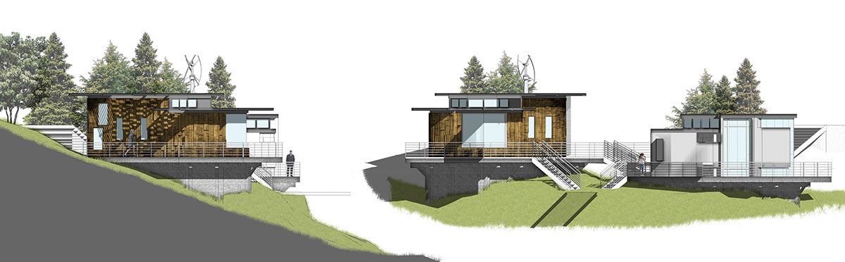 Residence mountain design seclusion residential architecture
